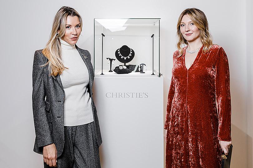 Закрытый показ ювелирных украшений Christie's: Марина Муравлева и Анастасия Карнеева