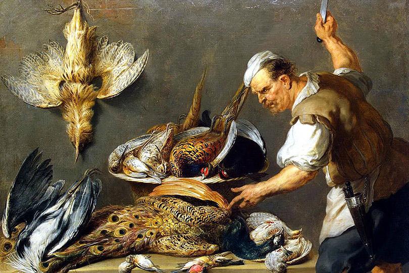 Франс Снейдерс. Повар устола сдичью. 1634-1637