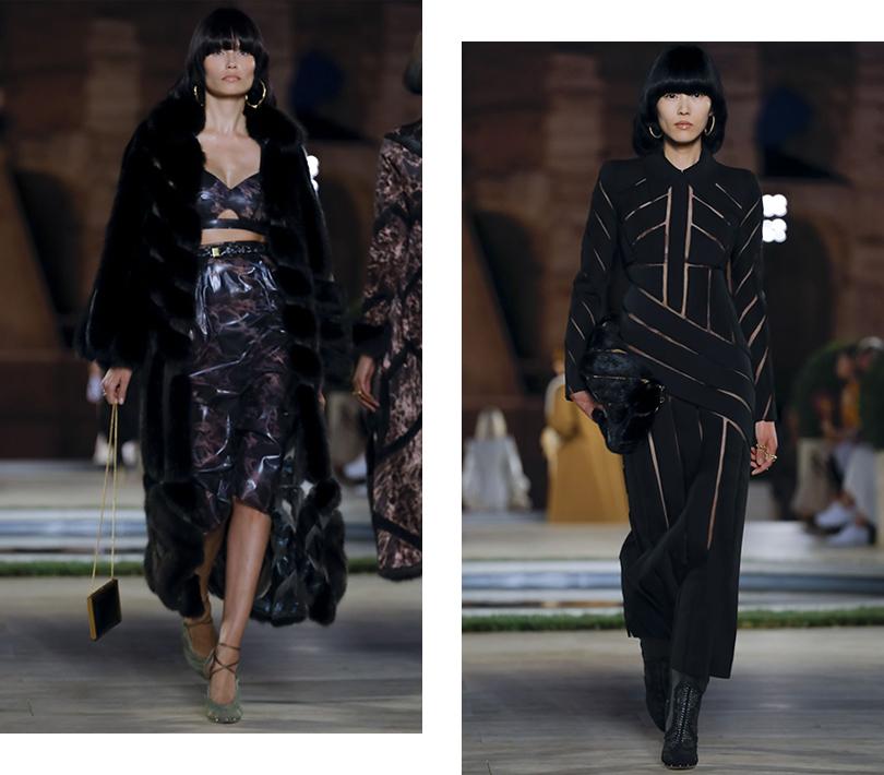 Показ Fendi Couture памяти Карла Лагерфельда в Риме