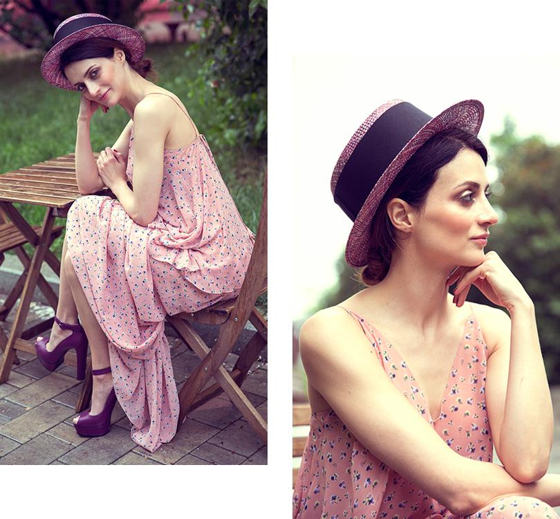 Style Notes сМариной Изиловой: как правильно носить цветочный принт? Платье, Poustovit; туфли, Casadei; шляпа— собственность героини