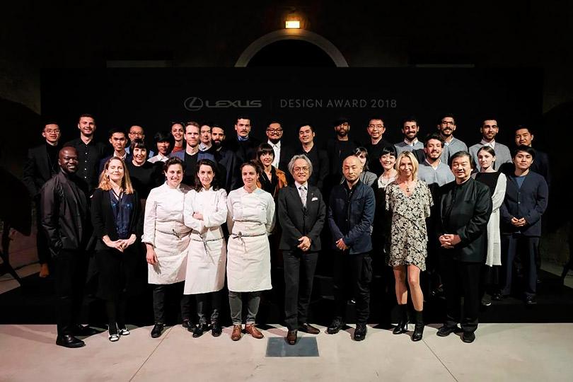 Участники церемонии награждения Lexus Design Award 2018