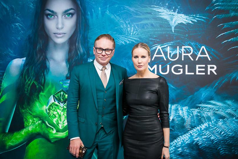 Запуск новой женской линии Aura парфюмерного дома Mugler. Эдгар Шабанов иЕлена Летучая