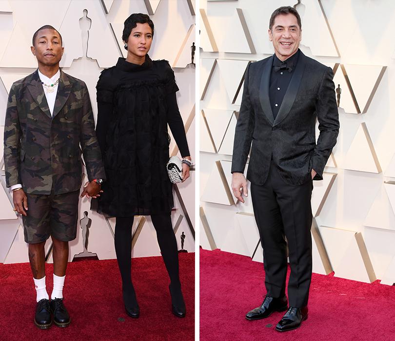 Самые стильные мужчины 91-й церемонии «Оскар». Фаррелл Уильямс иХелен Ласичан. Хавьер Бардем