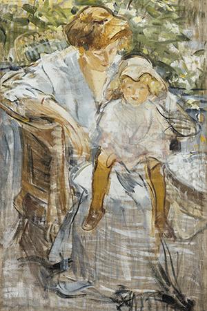 Михаил Шемякин. Портрет жены ссыном наколенях.1910