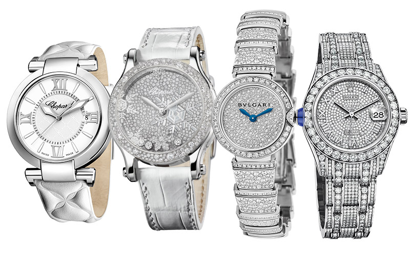 Chopard, Chopard Lady Snowflakes, Bulgari Lvcea Piccola, Rolex Oyster Perpetual Pearlmaster