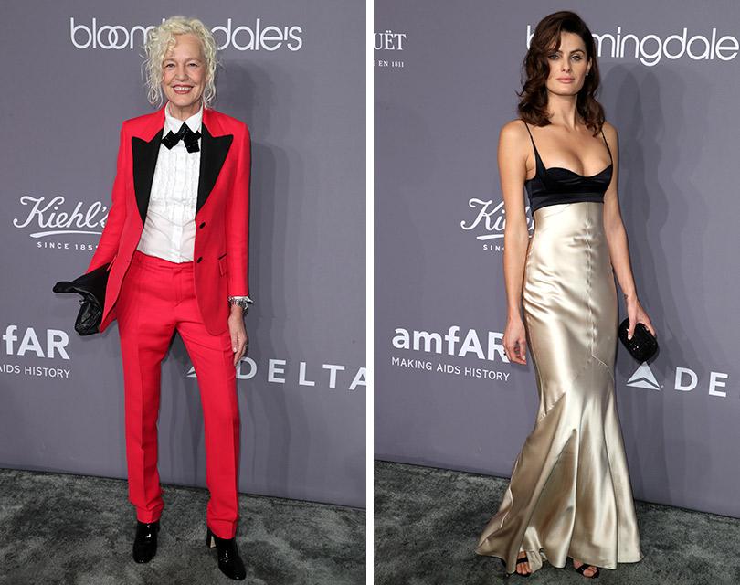 Хайди Клум, Сиенна Миллер идругие гости гала-вечера amfAR вНью-Йорке. Эллен фон Унверт. Изабели Фонтана