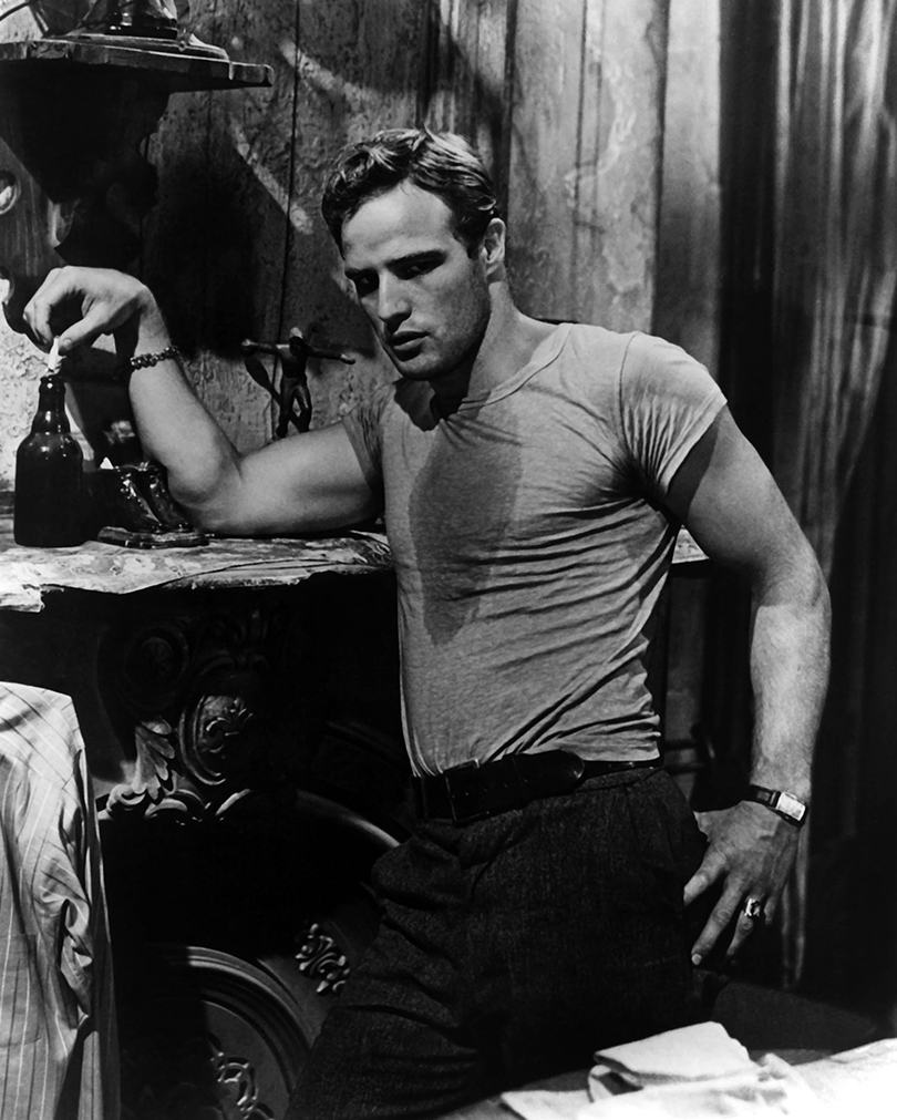 "Марлон Брандо вфильме «Трамвай ""Желание""», 1951г."