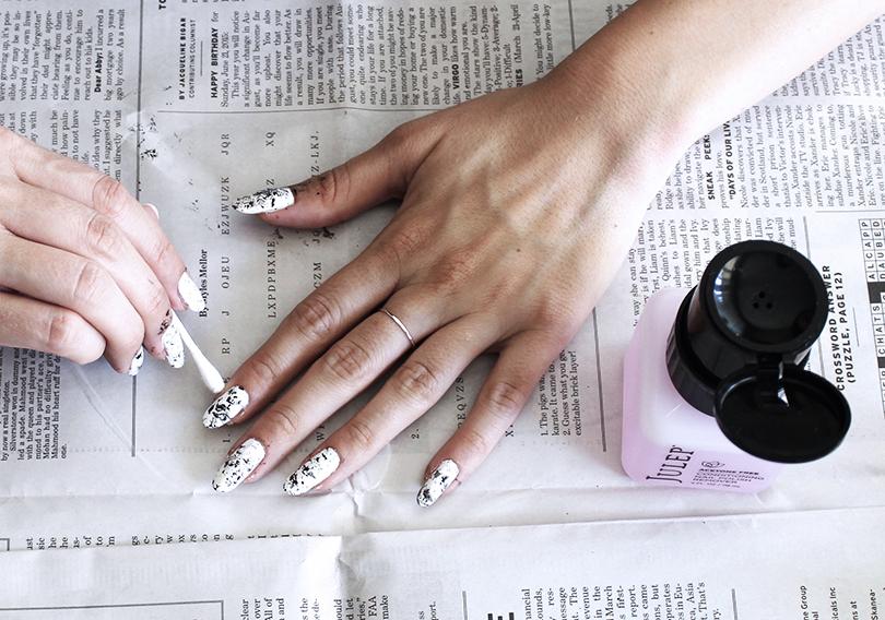 Уроки красоты сЕвгенией Ленц: «голливудские» ногти— новый тренд. «Мраморное» покрытие