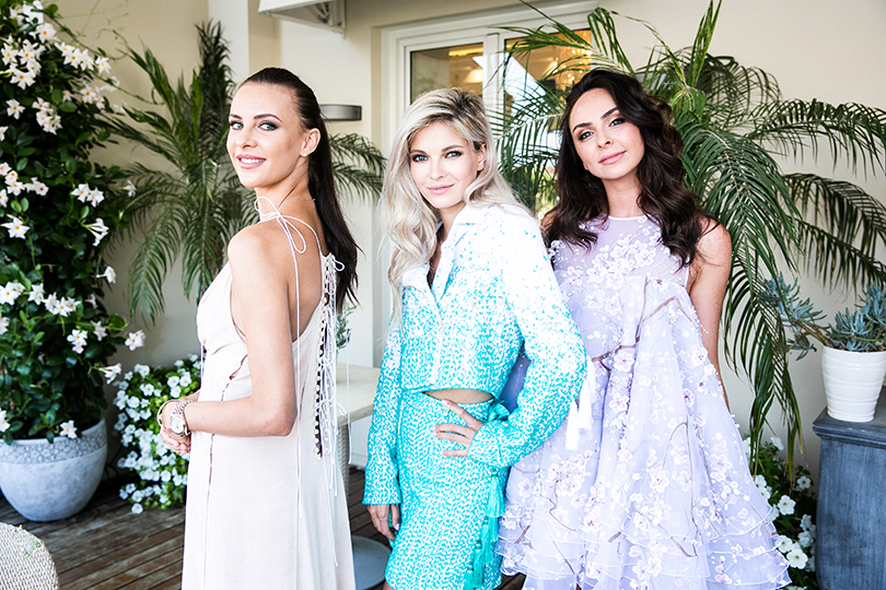Навечеринке Maison Esve вМонако: Маргарита Банет, Наталья Бардо и Дарина Краснова