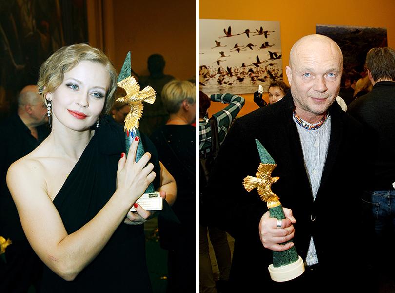 Церемония «Золотой орел-2015» на «Мосфильме»: Юлия Пересильд, Андрей Смоляков