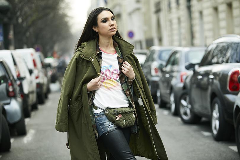 Street Style: эксклюзивные фотографии совторого дня Недели кутюра вПариже вобъективе ИноКо. Анастасия Беляк