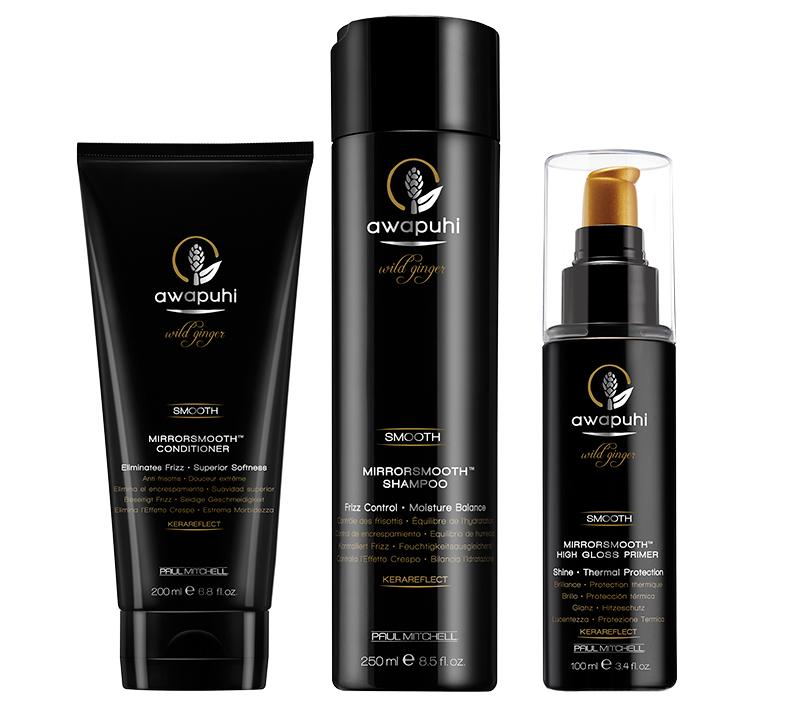 Hair & Style: 6 идеальных средств для волос для холодной осени. Марка Paul Mitchell предлагает этой осенью сфокусироваться на специальной линейке для ухода за сухими, пушащимися и непослушными волосами Awapuhi Mirrorsmooth.
