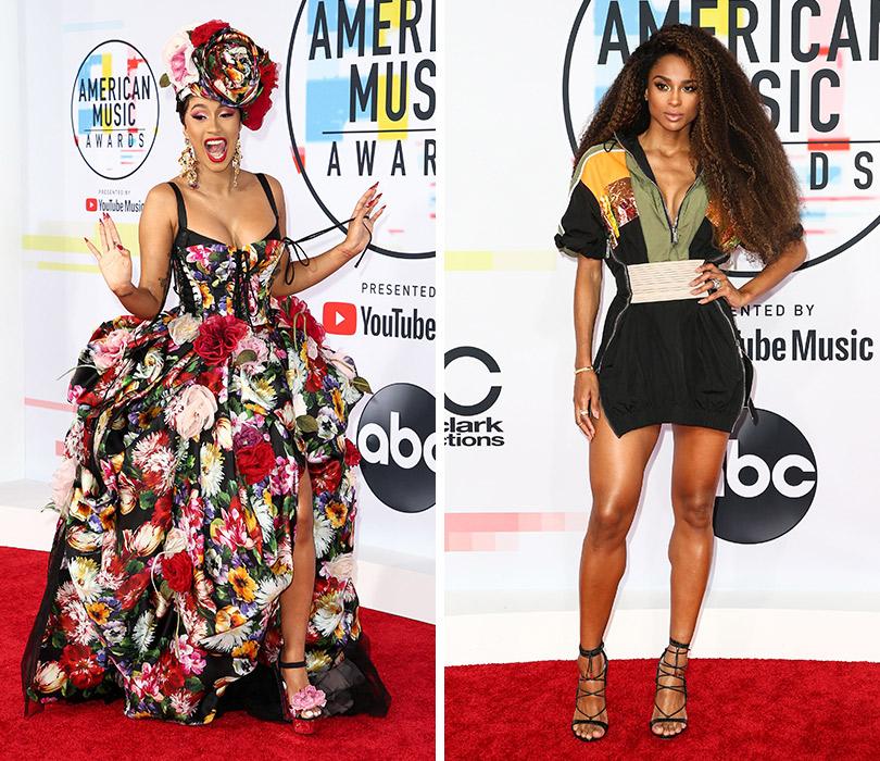 Самые яркие образы с ковровой дорожки American Music Awards. Карди Би. Сиара