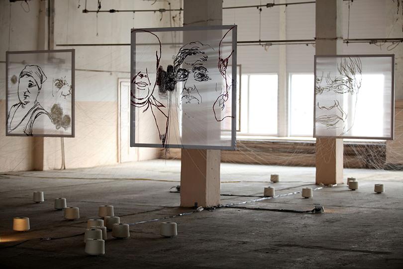 Татьяна Ахметгалиева. Клото (1-я Уральская индустриальная биеннале, 2010)
