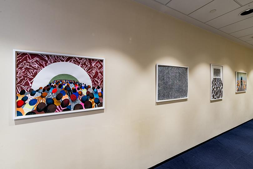 Работы Светланы Шуваевой - «Метро», «Шум», «Кино», «Ожидание» (2015 г.), коллекция Credit Suisse