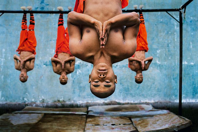 Тренировка шаолиньских монахов. Чжэнчжоу, Китай.2004