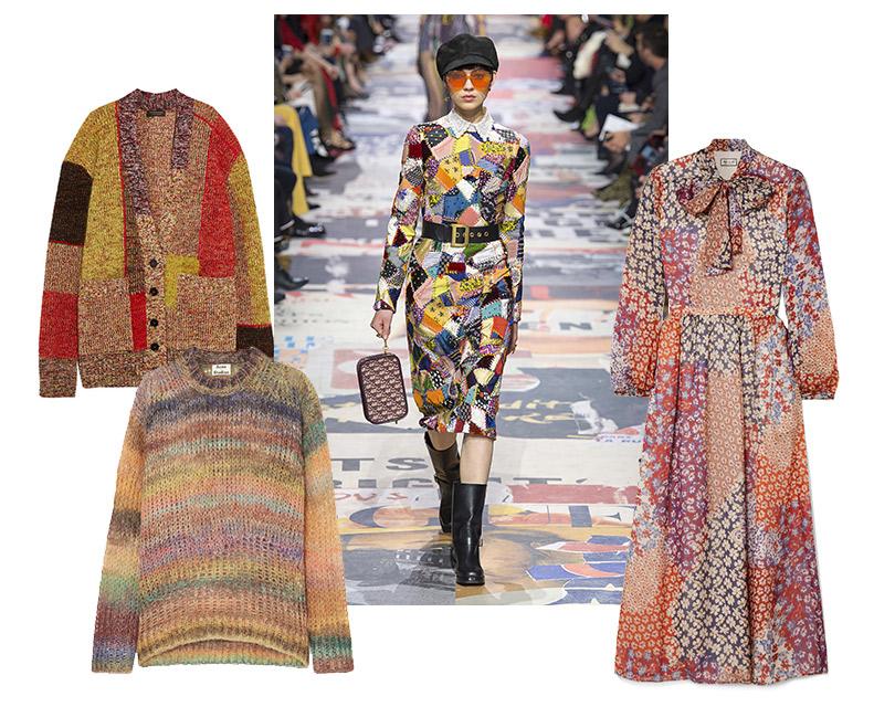 Платье, Paul &Joe; свитер, Acne Studios; кардиган слюрексом, Burberry