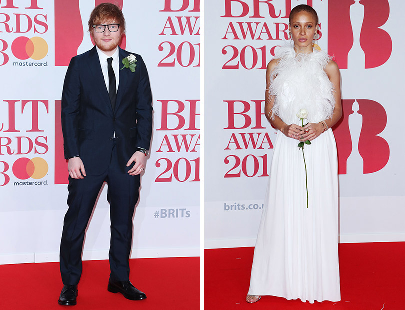 Рита Ора идругие гости премии Brit Awards 2018. ЭдШиран. Адвоа Абоа