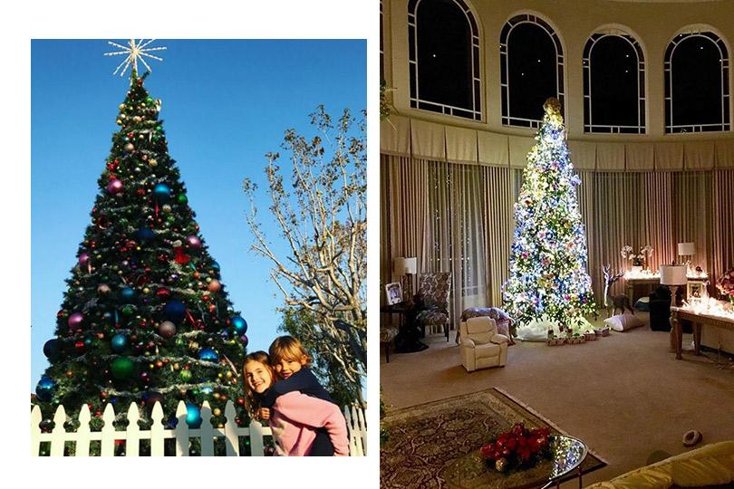 Инстаграм недели: дух Рождества— самые красивые елки зарубежных знаменитостей. Алессандра Амбросио. Бритни Спирс