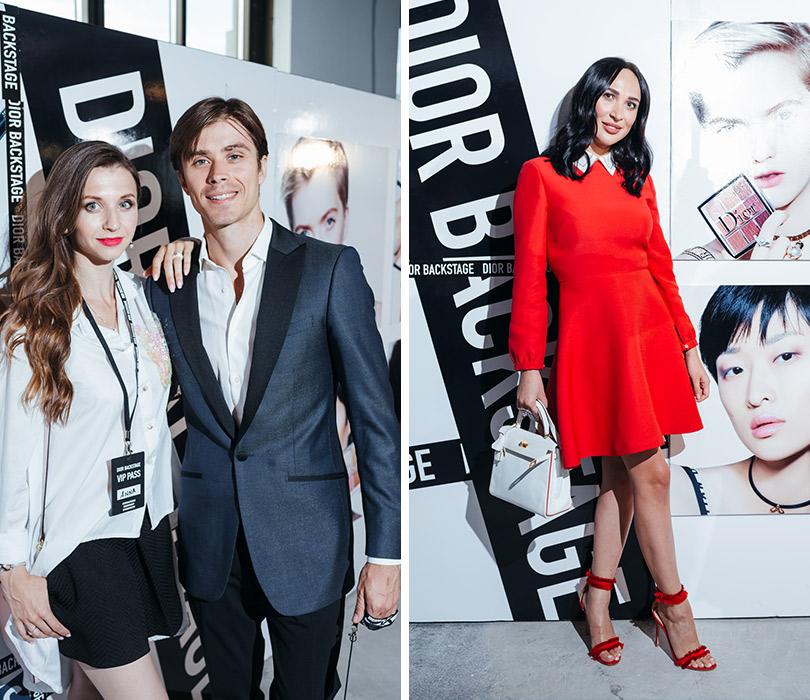 Презентация коллекции профессионального макияжа Dior Backstage Line. Анна Тихомирова и Артем Овчаренко. Анастасия Задорина