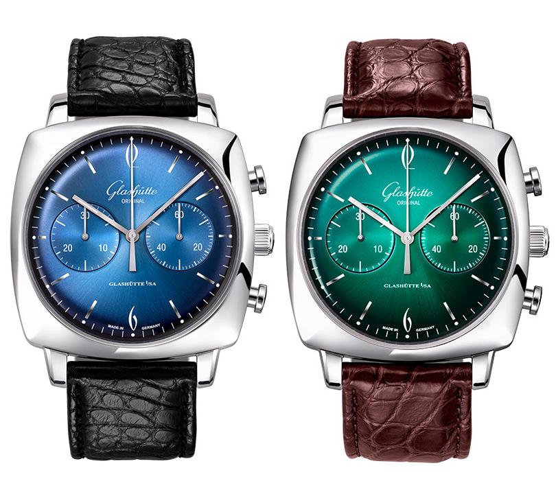 Watches &People сСергеем Серебряковым: все оттенки цвета— линейка Glashütte Original Sixties Iconic Square