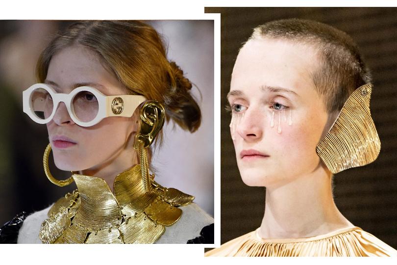 Posta-Бижу: откуда взялись золотые «эльфийские» уши на показе Gucci?