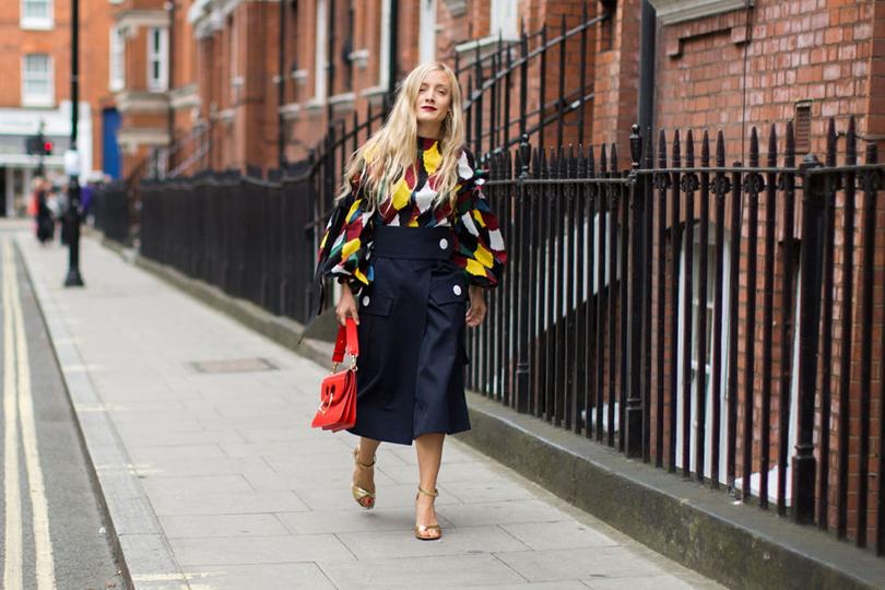 Street Style: лучшие образы на Неделе моды в Лондоне. Стилист Кейт Фоли