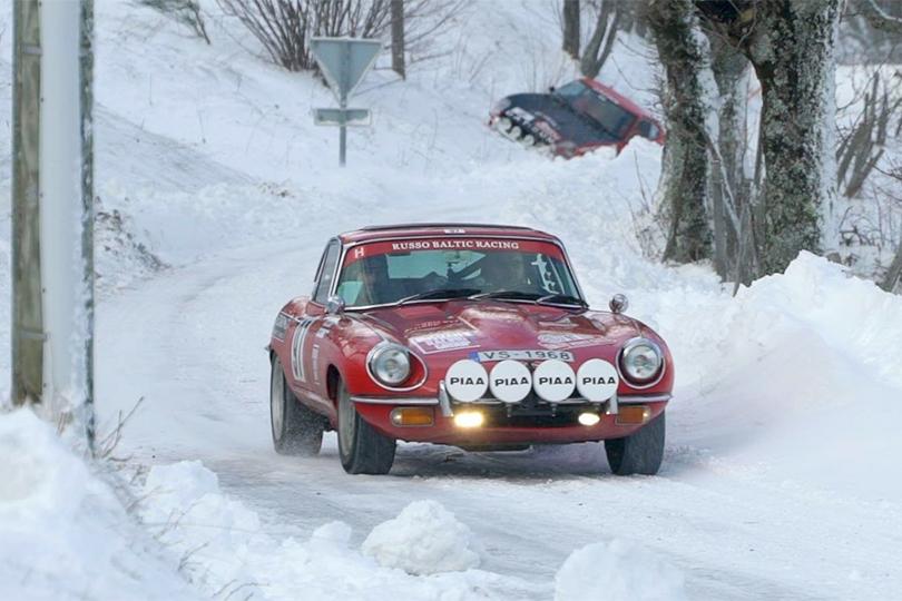 Jaguar E-Type 1968 года на ралли Монте-Карло