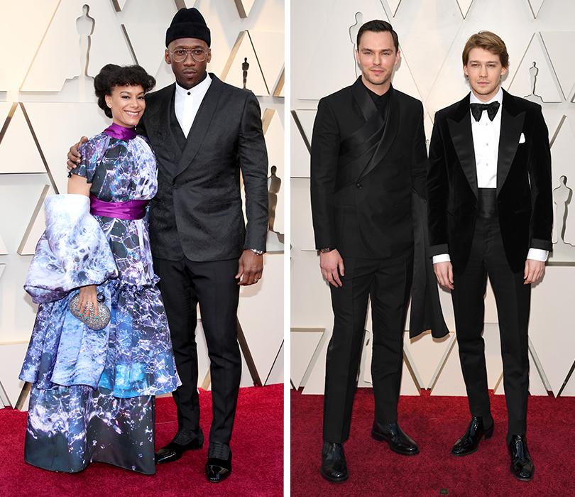 Самые стильные мужчины 91-й церемонии «Оскар». Махершала Али иАматус Сами-Карим. Николас Холт иДжо Олвин