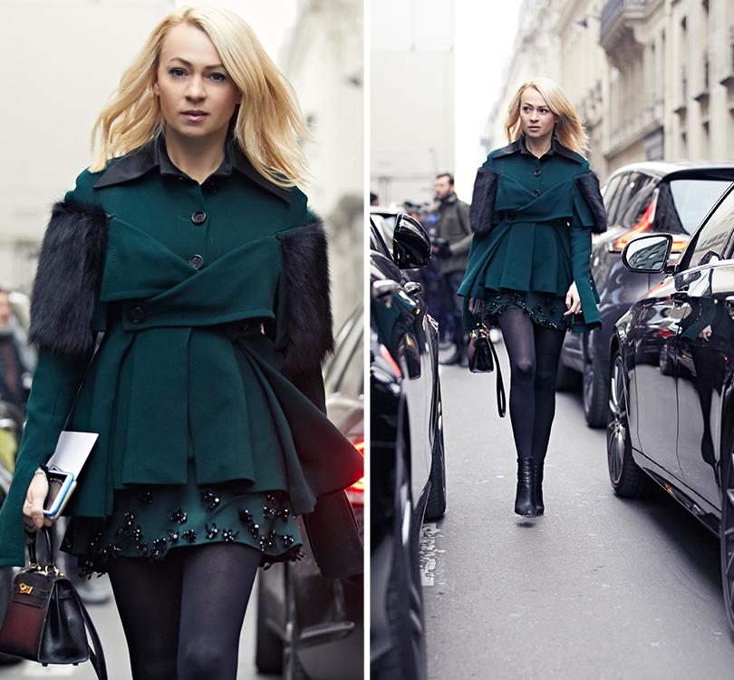 Street Style: эксклюзивные фотографии стретьего дня Недели Haute Couture вПариже вобъективе ИноКо. Яна Рудковская (в Edem Couture)