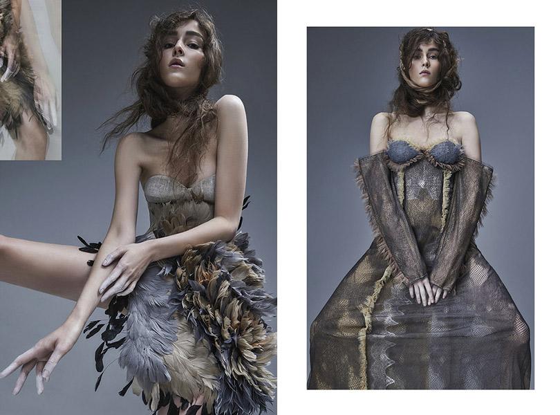 Переосмысление творчества Модильяни вдебютной коллекции Ruban Haute Couture