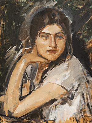 Михаил Шемякин. Портрет девушки. Кира.1925
