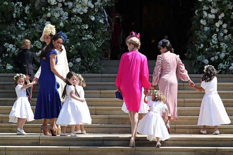 Свадьба Принца Гарри и Меган Маркл. Герцогиня Кэтрин с детьми