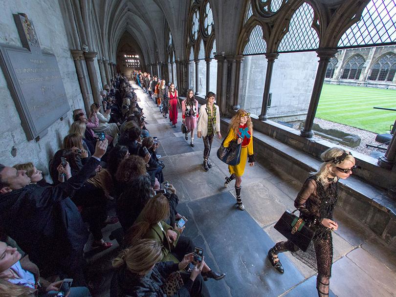 Главные события вмире моды за2016 год. Показ Gucci вВестминстерском аббатстве