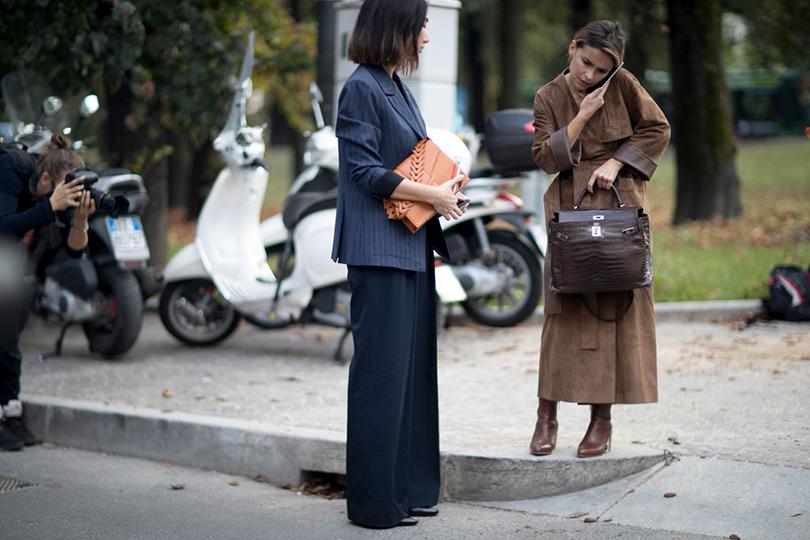 Street Style: уличный стиль на Неделе моды в Милане. Мирослава Дума