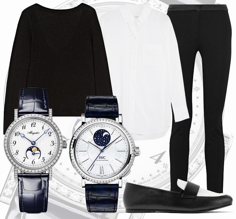 Часы & Караты: 7 лучших черно-белых моделей на любой случай жизни. Часы Breguet Classique Dame ичасы IWC Portofino Automatic Moon Phase 37с указателями лунной фазы