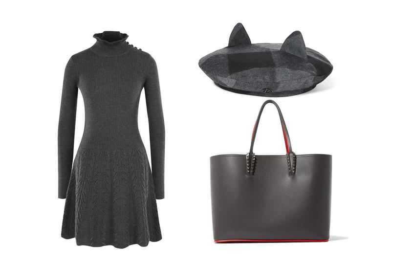 Платье, See byChloé (ЦУМ); сумка, Christian Louboutin; берет, Maison Michel
