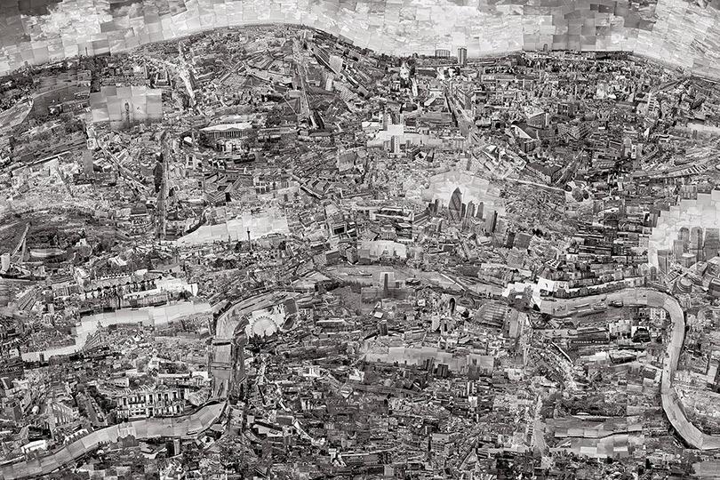 Сохи Нишино. Карта-диорама Лондона
