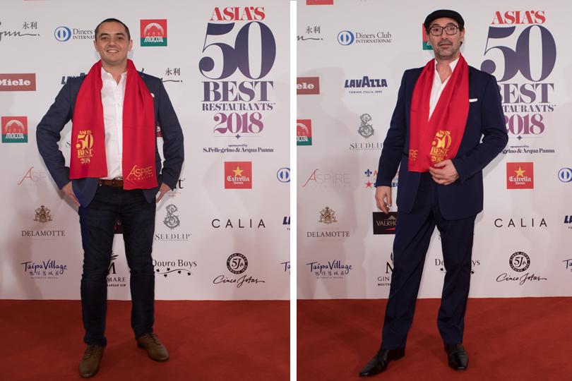 Жюльен Ройер (Odette, Сингапур, #5)— лучший ресторан Сингапура. Поль Пэре (Ultraviolet, Шанхай, #8), обладатель Art ofHospitality Award