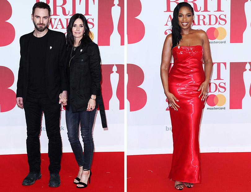 Рита Ора идругие гости премии Brit Awards 2018. Джонни Макдейд иКортни Кокс. Дженнифер Хадсон