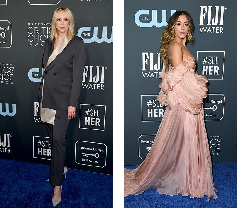Гвендолин Кристи в Dior Men. Хлоя Беннет в Yanina Couture