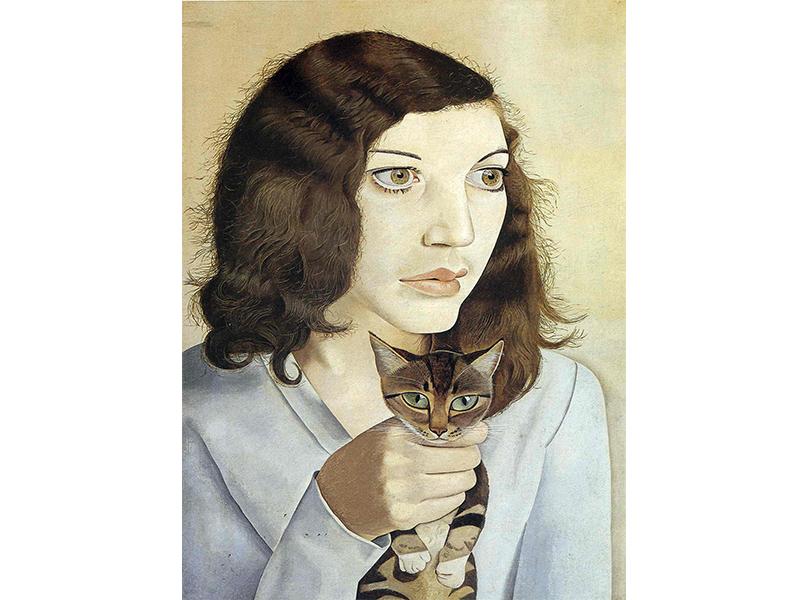 Люсьен Фрейд. «Девушка с котенком». 1947