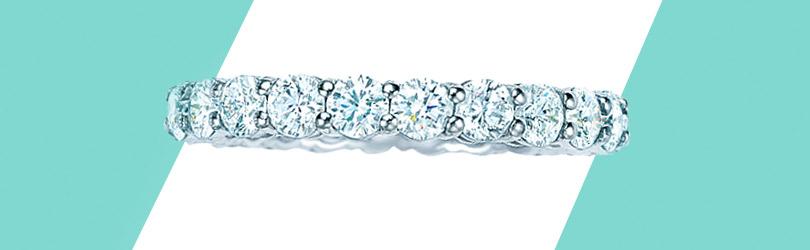 Кольцо Tiffany Embrace изплатины сбриллиантами
