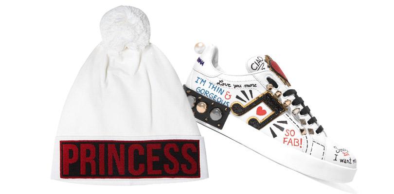 Новогодние подарки для миллениалов. Шапка или кеды из «миллениальной» линейки Dolce & Gabbana