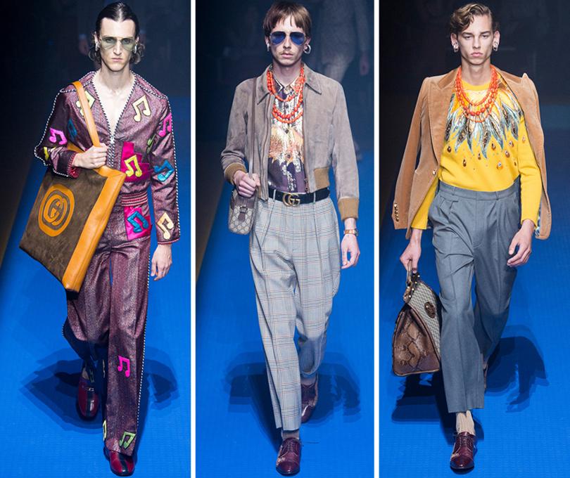 Рок-н-ролл, 1970-е инемного мистики— вМилане прошел показ Gucci