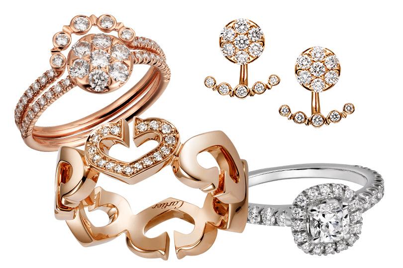 Cartier: кольцо исерьги Etincelle deCartier, кольцо Coeurs etSymboles, кольцо Cartier Destinée