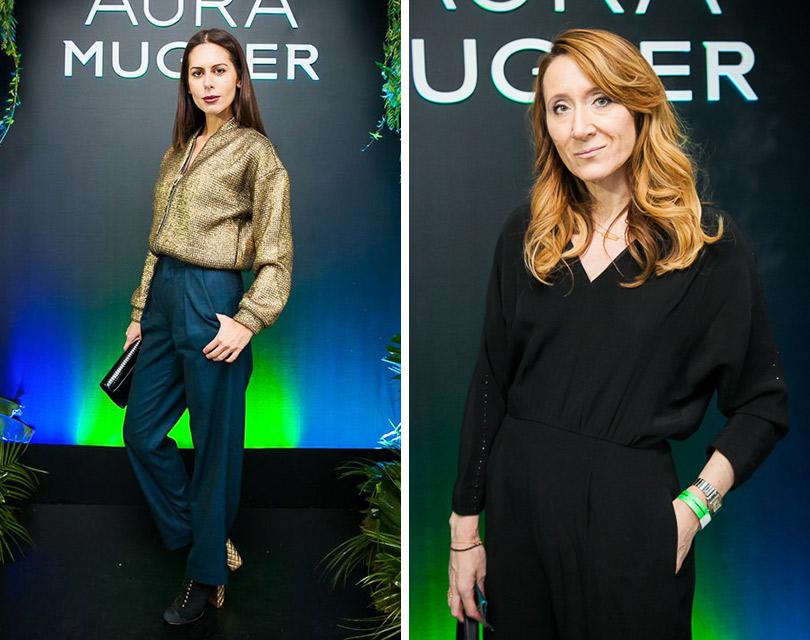 Запуск новой женской линии Aura парфюмерного дома Mugler. Сабина Ахмедова. Юрате Гураускайте