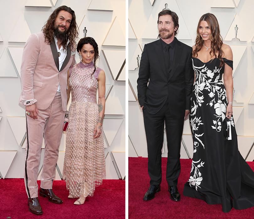 Самые стильные мужчины 91-й церемонии «Оскар». Джейсон Момоа иЛиза Бонет. Кристиан Бейл иСиби Блэйзик