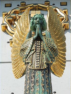 Модерн вархитектуре психиатрических больниц рубежа XIX–XX веков. Вена, Австрия  Kirche amSteinhof, Baumgartner Höhe 1, 1140 Wien