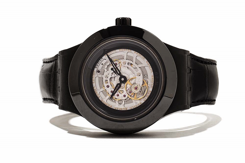 Swatch Full Turn Night, молодежный «турбийон накаждый день»